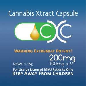Cannabis Xtract Capsules 200 mg